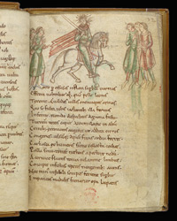 Coloured Drawing Of Pride, In Prudentius's 'Conflict Of The Soul'